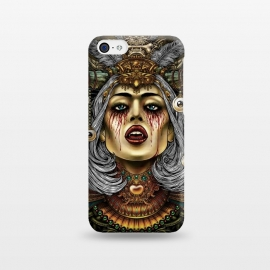 iPhone 5C  Winya 2 by Winya (women,eyes,queen,vampire,blood,poison,snake,bad ass,evil,halloween,cruel,beautiful,horn,amulet,jewel,chicano,neo traditional,tattoo style,tattoo,surreal,witch,magic,occult,culture,art line,baroque,victorian,gothic,pop culture,dark,reaper,sacred geometry,fantasy,mystical,creepy,fairy,angel,myth,vinta)