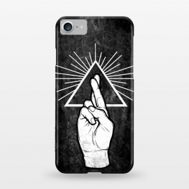 iPhone 7 SlimFit Winya 87 by Winya (hand,finger,finger cross,cross,fingers crossed,triangle of light,triangle,nerd,pop culture,hipster)