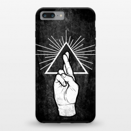 iPhone 8/7 plus  Winya 87 by Winya (hand,finger,finger cross,cross,fingers crossed,triangle of light,triangle,nerd,pop culture,hipster)