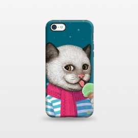 iPhone 5C StrongFit Cat and Ice Cream by Tummeow ()