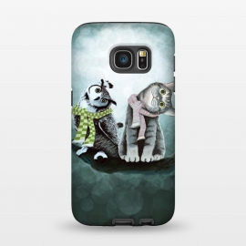 Galaxy S7  Cat and Owl by Tummeow