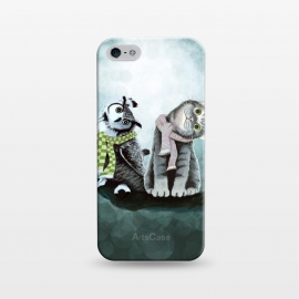 iPhone 5/5E/5s  Cat and Owl by Tummeow ()