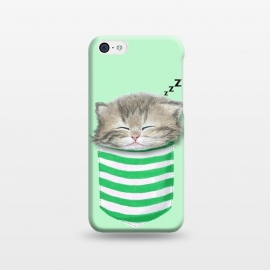iPhone 5C  Cat in The Pocket by Tummeow