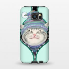 Galaxy S7  Cat in The Zip by Tummeow