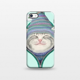 iPhone 5C  Cat in The Zip by Tummeow