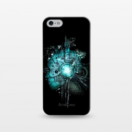 iPhone 5/5E/5s  Techno by Jay Maninang (robot,techno,music,headset,cool,mecha,electric,steampunk)