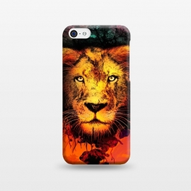 iPhone 5C  The King by Jay Maninang (king,lion ,jungle,wild,wildlife,nature,animals,bigcat,cats)