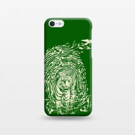 iPhone 5C  WildPrint by Jay Maninang (tiger,thumbrpint,wildlife,wild,bigcats,cats,nature)