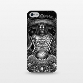 iPhone 5/5E/5s  Winya-104 by Winya (hear no evil,see no evil,speak no evil,three wise monkeys,illuminati,zionism,greedy,surreal,neo traditional,bomb,world,earth,star,space,sheep,tree,gas mask,gothic,demon,christian,jesus,satan,horror,skeleton,art line,popular,baroque,black and white,sacred geometry,death metal,dead,geometry,sacred,sku)