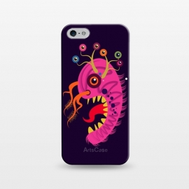 iPhone 5/5E/5s  Seveneye by Parag K (art,cartoon, eyes,pink,creative face,design,animal)