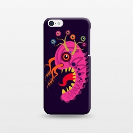 iPhone 5C  Seveneye by Parag K (art,cartoon, eyes,pink,creative face,design,animal)