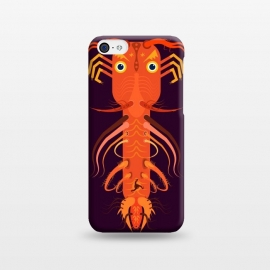 iPhone 5C  Prawn by Parag K (art ,fish ,creative,illustration ,sea,character design,Beach ,Prawn)