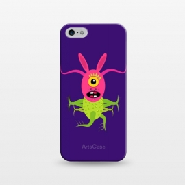 iPhone 5/5E/5s  Rabitpink by Parag K (animal ,cartoon,character design ,art,face,green,artist)