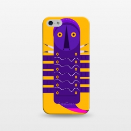 iPhone 5/5E/5s  Catterpiller2 by Parag K (art ,design,animal,creative art,yellow)
