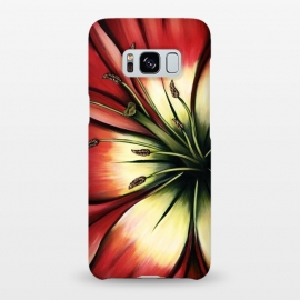 Galaxy S8+  Red Lily Flower by Denise Cassidy Wood