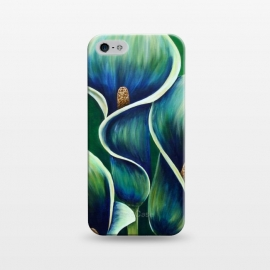 iPhone 5/5E/5s  Blue Calla Lilies by Denise Cassidy Wood