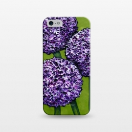iPhone 5/5E/5s  Purple Allium by Denise Cassidy Wood