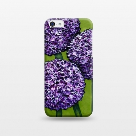 iPhone 5C  Purple Allium by Denise Cassidy Wood