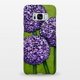 Galaxy S8+  Purple Allium by Denise Cassidy Wood