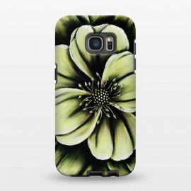 Galaxy S7 EDGE  Green Flower by Denise Cassidy Wood
