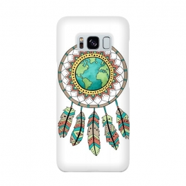 World Dreamcatcher by Pom Graphic Design (dreamcatcher,world,travel,feathers,aztec,tribal)