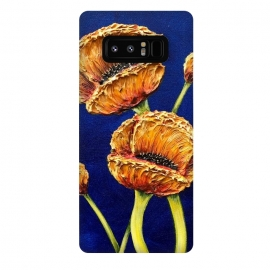 Galaxy Note 8  Orange Poppies by Denise Cassidy Wood