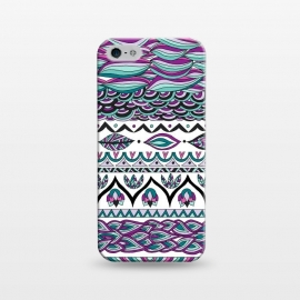 iPhone 5/5E/5s  Beach Paradise by Pom Graphic Design (tribal, aztec,geometric,leaves)