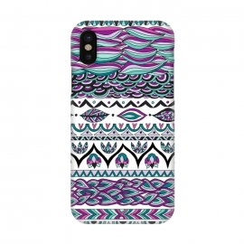 iPhone X  Beach Paradise by Pom Graphic Design (tribal, aztec,geometric,leaves)