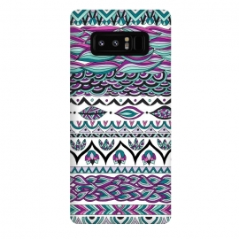 Galaxy Note 8  Beach Paradise by Pom Graphic Design (tribal, aztec,geometric,leaves)
