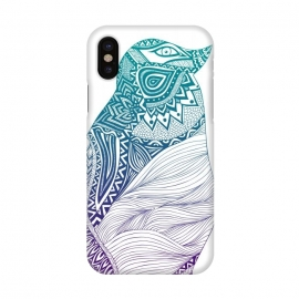 iPhone X  Duotone penguin by Pom Graphic Design (penguin,animal,feathers,tribal)