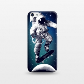iPhone 5C  Skateboarding astronaut by Mitxel Gonzalez