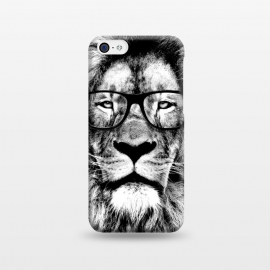iPhone 5C  The King Lion of The Library by Mitxel Gonzalez (lion,hipster,glasses,funny,animal,roar,cool,leon)