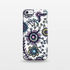 linea floral by Laura Grant (floral,flower,pattern,doodle,multi colour)
