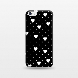 iPhone 5C  Pin Point Hearts White by Project M ()