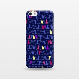 iPhone 5C  Midnight Triangles by Kimrhi Studios