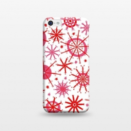 iPhone 5C  Snowflake Twinkle Pink and Red by Kimrhi Studios ()