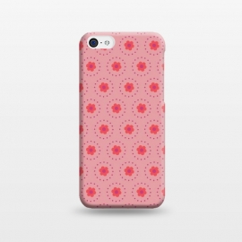 iPhone 5C  Pink Circular Floral by Rosie Simons ()