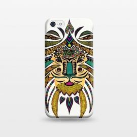 iPhone 5C  Emperor Tribal Lion by Pom Graphic Design ()