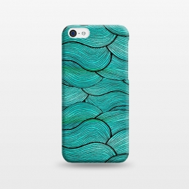 iPhone 5C  Sea Waves Pattern by Pom Graphic Design ()