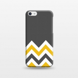 iPhone 5C  Color Blocked Chevron Mustard Gray by Josie Steinfort  ()