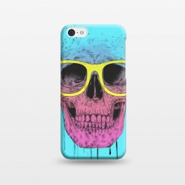 iPhone 5C  Pop Art Skull With Glasses by Balazs Solti