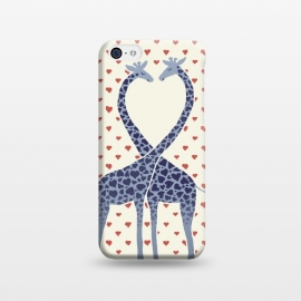 iPhone 5C  Giraffes in Love a Valentine's Day illustration by Micklyn Le Feuvre ()