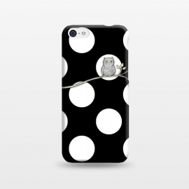 iPhone 5C  Out on a Limb Polka Dot Owl Moon by Micklyn Le Feuvre ()