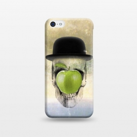 iPhone 5C  Magritte Skull by Sebastian Parra