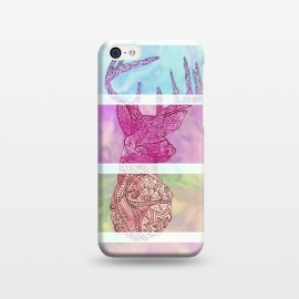 iPhone 5C  Deer Vintage Stripes Paisley Photo by Girly Trend ()