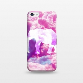 iPhone 5C  Elephant on Pink Purple Clouds by Girly Trend ()