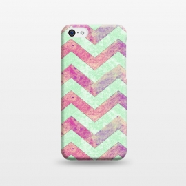 Mint Pink Watercolor Chevron by Girly Trend ()