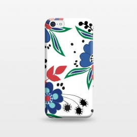 iPhone 5C  BrightFolk by Dunia Nalu (floral,flowers,flower,nature,folk,bouquet,pattern)