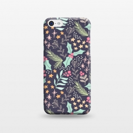 iPhone 5C  Merry by Dunia Nalu (floral,star,stars,nature,pattern,christmas,holidays,women)