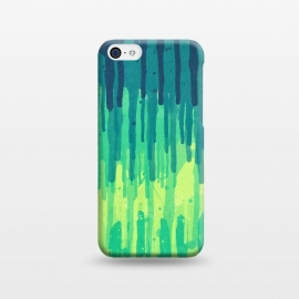 iPhone 5C  Green Grunge Color Splatter Graffiti Backstreet Wall by Philipp Rietz ()